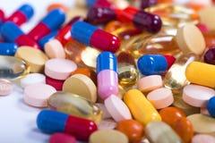 Achtergrond van geneeskrachtige tabletten stock afbeelding