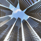 Achtergrond van glashighrise moderne de bouwwolkenkrabber, Stock Afbeeldingen
