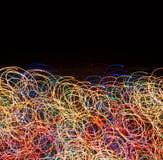 Achtergrond van gloeiende lijnen Stock Foto's
