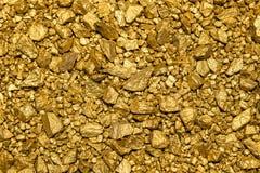 Achtergrond van gouden goudklompjes Royalty-vrije Stock Foto's