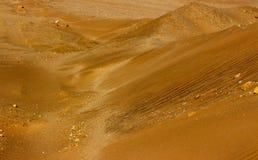 Achtergrond van Gouden zandduin 7 op een zonnige dag royalty-vrije stock foto's