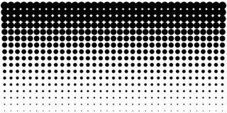 Achtergrond van gradiënt halftone punten, horizontaal malplaatje die halftone puntenpatroon gebruiken Vector illustratie royalty-vrije illustratie