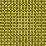 Achtergrond van grijs en geel bloempatroon Royalty-vrije Illustratie