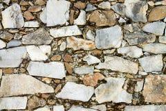 Achtergrond van grijze steenmuur Stock Foto's
