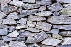 Achtergrond van grijze steenmuur Stock Fotografie