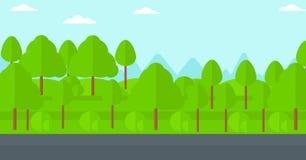 Achtergrond van groen bos Stock Afbeelding