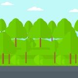 Achtergrond van groen bos Royalty-vrije Stock Afbeeldingen