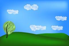 Achtergrond van groen gebied Stock Foto's