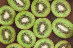 Achtergrond van groene kiwien Stock Foto