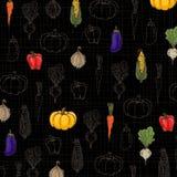 Achtergrond van groenten Vector Illustratie