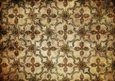 Achtergrond van Grunge de uitstekende keramische tegels stock foto's