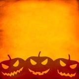 Achtergrond van Halloween van Grunge de Oranje Stock Afbeelding