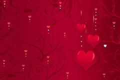 Achtergrond van harten Stock Afbeeldingen