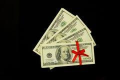 Achtergrond van heel wat geldbankbiljetten 100 dollars royalty-vrije stock afbeeldingen