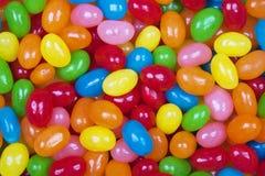 Achtergrond van heerlijk Jelly Bean-suikergoed stock afbeelding
