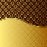 achtergrond van het 2 toon de Gouden damast Stock Afbeeldingen