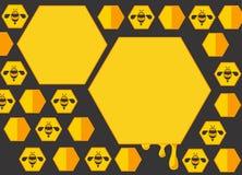 Achtergrond 2 van het bijenbeeldverhaal Stock Foto
