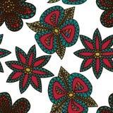 Achtergrond van het bloemen de Naadloze Patroon Stock Afbeeldingen