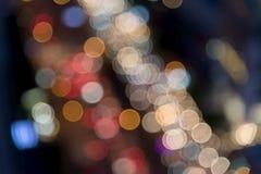 Achtergrond van het Bokeh de lichte onduidelijke beeld Stock Foto
