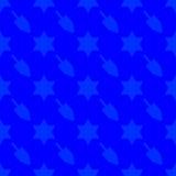 Achtergrond van het Chanoeka de naadloze patroon Stock Fotografie