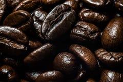 Achtergrond van het close-up van koffiebonen Royalty-vrije Stock Afbeelding