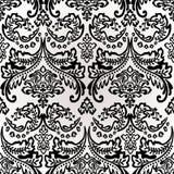 Achtergrond van het damast de Uitstekende Bloemen Naadloze Patroon. Royalty-vrije Stock Afbeeldingen