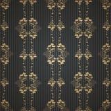 Achtergrond van het damast de uitstekende bloemen naadloze patroon Stock Fotografie