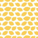 Achtergrond van het de citroenen naadloze patroon van de beeldverhaalkrabbel de gele Stock Afbeelding