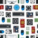 Achtergrond van het de Componenten de Naadloze Patroon van beeldverhaalpc Vector Royalty-vrije Stock Afbeelding