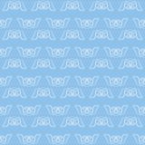 Achtergrond van het de diamant naadloze patroon van de pastelkleur de blauwe stof ikat Stock Foto's