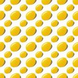 Achtergrond van het de eieren naadloze patroon van Pasen de gouden Stock Foto