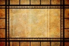 Achtergrond van het de Grenskader van de bioskoopfilm de Uitstekende stock afbeelding