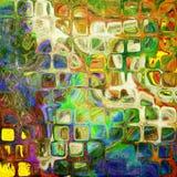 Achtergrond van het de regenboogpatroon van de kunst de abstracte Stock Foto