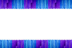 Achtergrond van het de stokkader van het kleuren de houten roomijs Royalty-vrije Stock Afbeeldingen