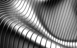 Achtergrond van het de streeppatroon van het aluminium de abstracte zilveren Royalty-vrije Stock Afbeeldingen
