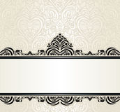 Achtergrond van het de uitnodigingsontwerp van huwelijks de uitstekende Ecru Royalty-vrije Stock Afbeeldingen