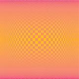Achtergrond van het de veelhoekpatroon van de de zomergradiënt de oranje vierkante (vector) Royalty-vrije Stock Foto