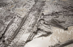 Achtergrond van het de wegfragment van de modder de vuile Royalty-vrije Stock Fotografie