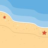 Achtergrond van het de zomer de Tropische Strand royalty-vrije illustratie
