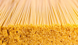 Achtergrond van het deegwaren de ruwe voedsel of textuur dichte omhooggaand Royalty-vrije Stock Foto