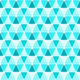 Achtergrond van het driehoeken de naadloze patroon Stock Foto