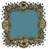Achtergrond van het fantasie de vector decoratieve kader Royalty-vrije Stock Foto