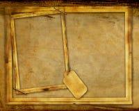 Achtergrond van het Frame van Grunge de Geweven Stock Afbeelding