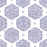 Achtergrond van het gekrabbel de geweven hexagon naadloze patroon, met een verzwakt canvaseffect Stock Illustratie