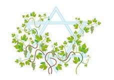 Achtergrond van het gelukwensen met de Joodse vakantie Vector Illustratie