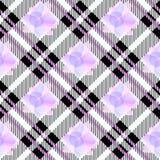 Achtergrond van het geruit Schots wollen stof de naadloze patroon Ultraviolet, roze, witte Plaid, het Overhemdspatronen van het G stock illustratie