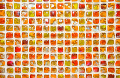 Achtergrond van het glas de kleurrijke mozaïek. Stock Foto