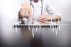 Achtergrond van het impuls de medische concept Geneeskunde en gezondheidszorg stock afbeeldingen
