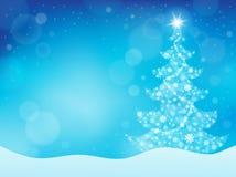 Achtergrond 4 van het kerstboomonderwerp vector illustratie