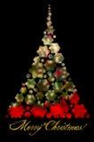 Achtergrond van het Kerstmis de abstracte onduidelijke beeld met verfraaide en aangestoken Christus Royalty-vrije Stock Foto's